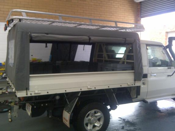 Landcruiser canvas canopy camping 1