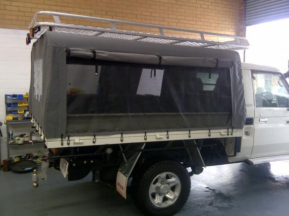 Landcruiser canvas canopy camping 2